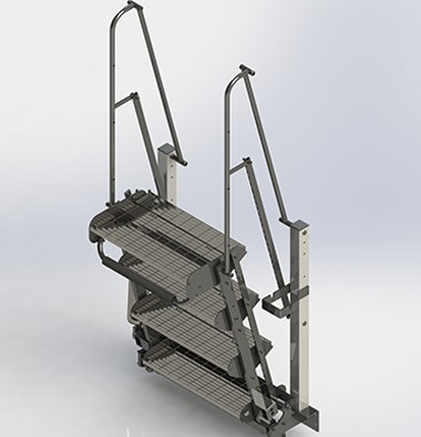 Folding Stair for Loading Stations